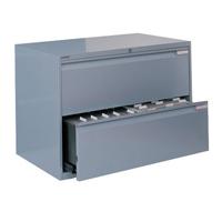 Bisley Side Filing Cabinet 2 Drawer Goose Grey (Pack of 1)