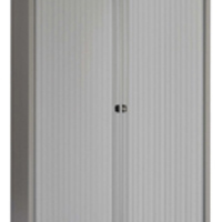 Image for Bisley Side-Opening Tambour Cupboard 1000x470x1968mm Goose Grey Ready Assembled AST78WGY