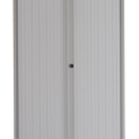 Image for Bisley Side-Opening Tambour Cupboard 1000x470x2229mm Goose Grey Ready Assembled AST87WGY
