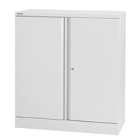 Bisley 2 Door Stationery Cupboard Chalk White 1 Shelf (Pack of 1)