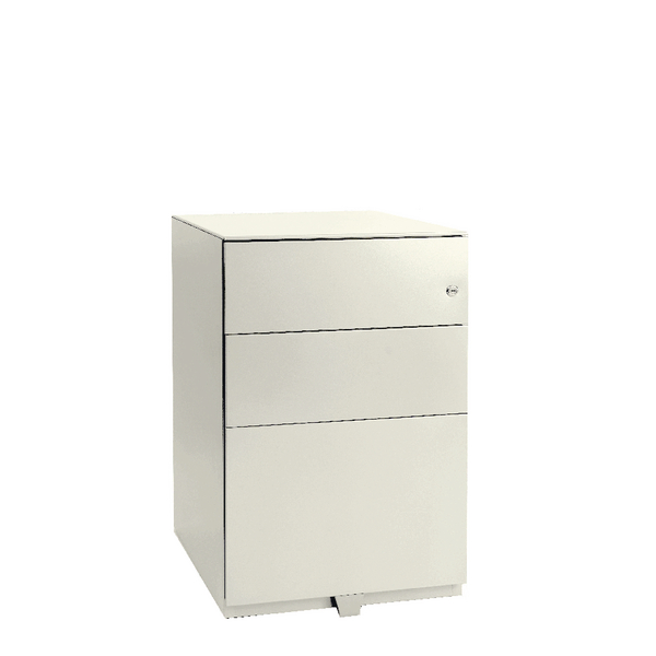 Image for Bisley Pedestal Mobile 2 Stationery 1 Filing Drawer Chalk White