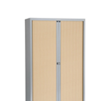 Bisley Eurotambour Unit H1637mm 3 Shelf Maple and Silver (Pack of 1)