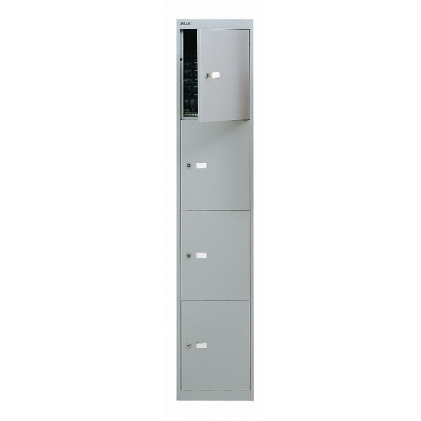 Bisley Goose Grey 4 Door Locker W305xD305xH1802mm