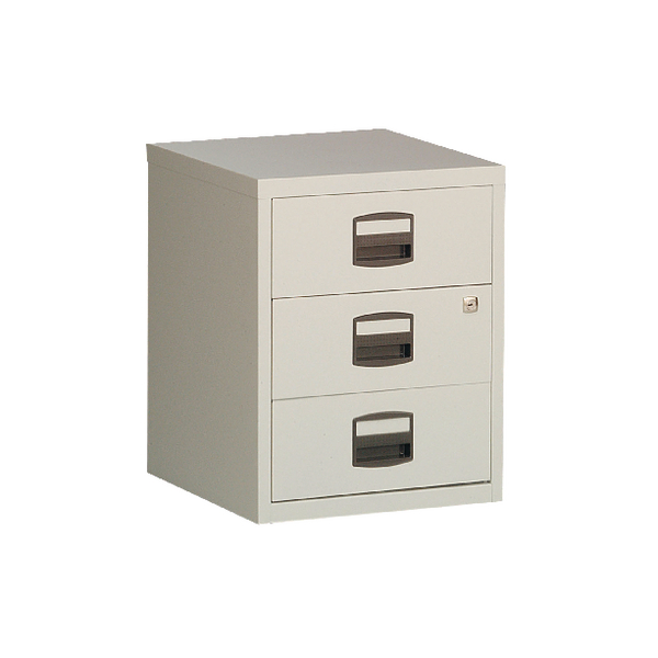 Bisley 3 Drawer Grey A4 Mobile Home Filer BY13461