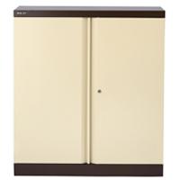 Bisley 2 Door Cupboard W914xD457xH1016mm Coffee Cream (Pack of 1)