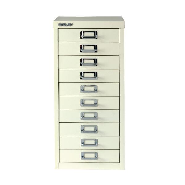 Bisley Multi-Drawer Cabinet A4 10 Drawer Chalk White