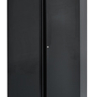 Bisley 2 Door Cupboard W914xD457xH1968mm Black (Pack of 1)