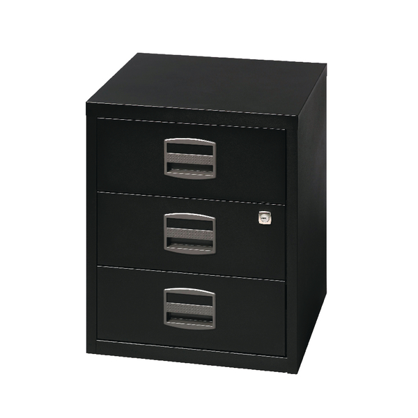 Bisley A4 Mobile Home Filer 3 Drawer Black BY33938