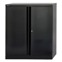 Bisley 2 Door Cupboard W914xD457xH1016mm Black (Pack of 1)