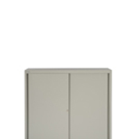 Bisley Sliding Door Cupboard 2 Dual Purpose Shelves Goose Grey (Pack of 1)