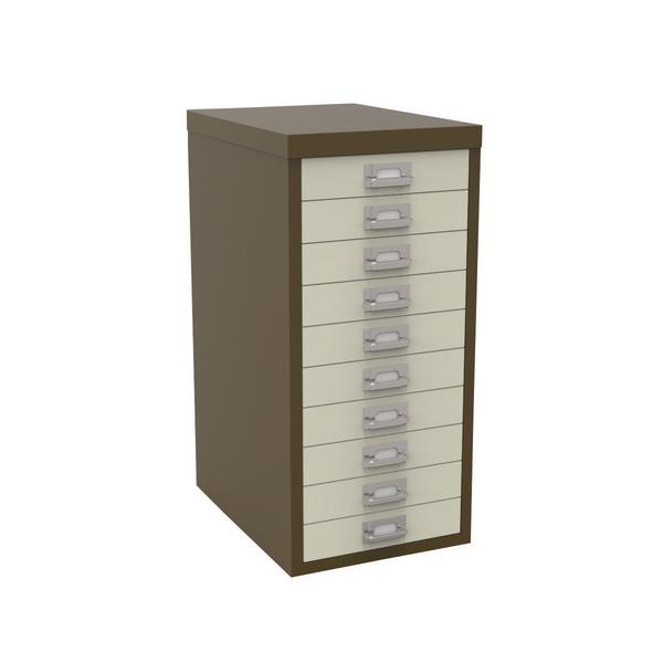 Bisley 10 Drawer Coffee Cream Non-Locking Multi-Drawer Cabinet