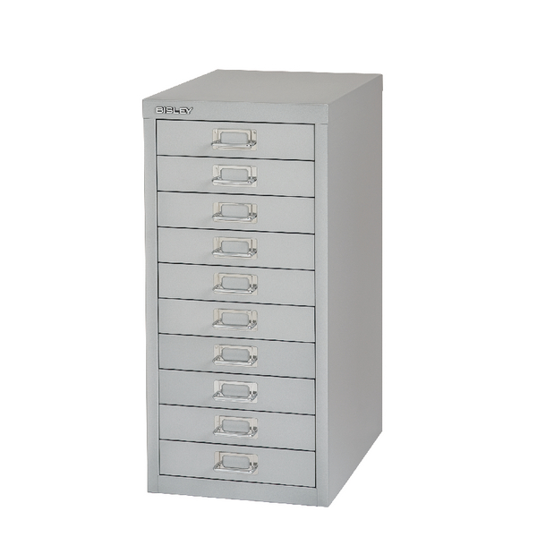 Bisley 10 Drawer Grey Non-Locking Multi-Drawer Cabinet BY36938