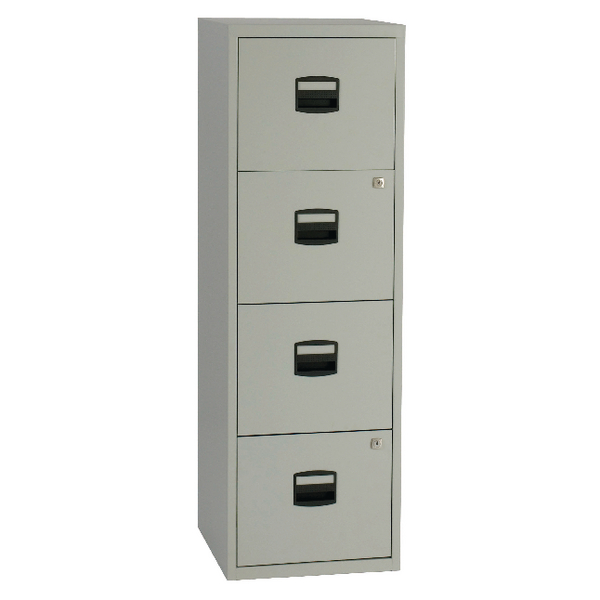 Bisley 4 Drawer Grey A4 Personal Filing Cabinet