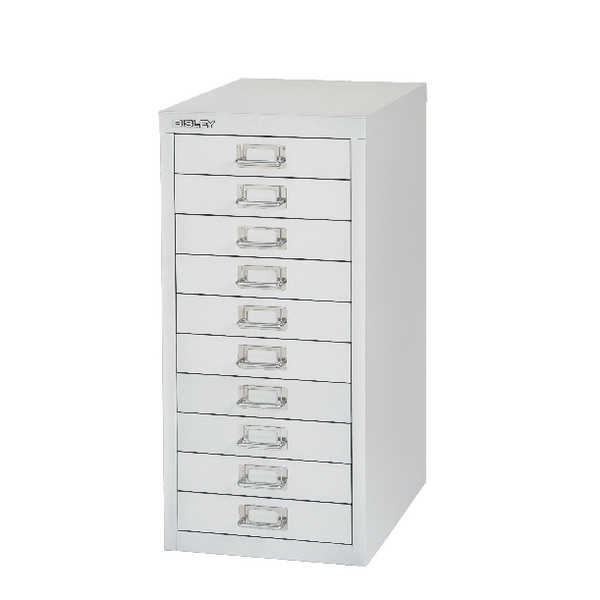 Bisley 10 Drawer Silver Non-Locking Multi-Drawer Cabinet