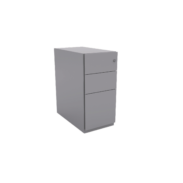 Bisley Note Pedestal Mobile 2 Stationery 1 Filing Drawer Goose Grey (Pack of 1)