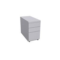 Bisley Note Pedestal Free Standing 2 Stationery 1 Filing Drawer Goose Grey (Pack of 1)