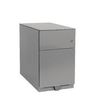 Bisley Note Pedestal Mobile 1 Stationery 1 Filing Drawer Goose Grey
