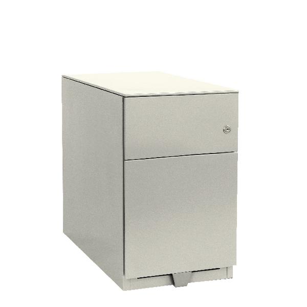 Bisley Note Pedestal Mobile 1 Stationery 1 Filing Drawer Chalk White