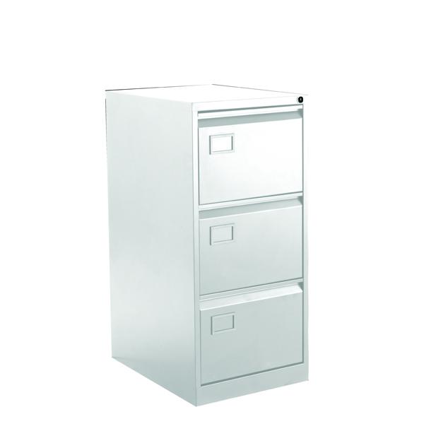Bisley 3 Drawer Filing Cabinet White