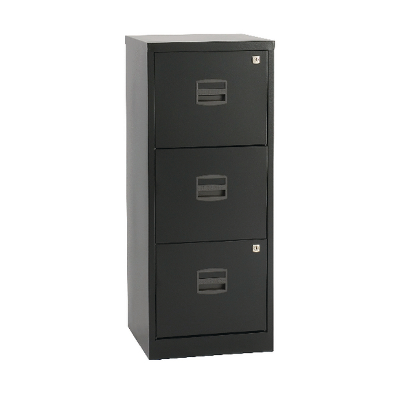 Bisley A4 Personal Filing Cabinet 3 Drawer Black BY48279
