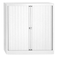 Bisley Eurotambour W1000xD430xH1030mm 2 Shelves White (Pack of 1)