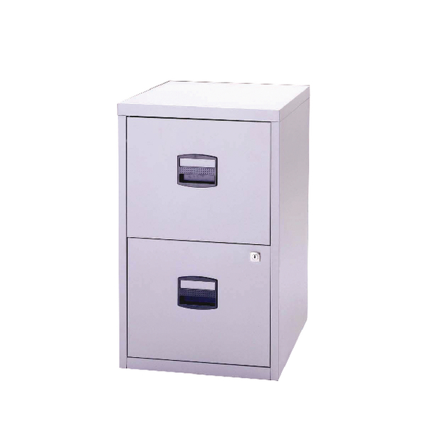 Bisley A4 Personal Filing 2 Drawer Lockable Grey