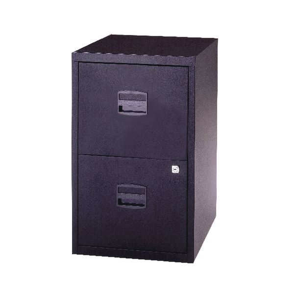 Bisley A4 Personal Filing 2 Drawer Lockable Black