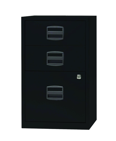 Bisley A4 Home Filer 3 Drawer Lockable Black