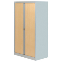 Bisley Eurotambour Unit W1000 x D430 x H1637mm 3 Shelf Silver and Beech (Pack of 1)