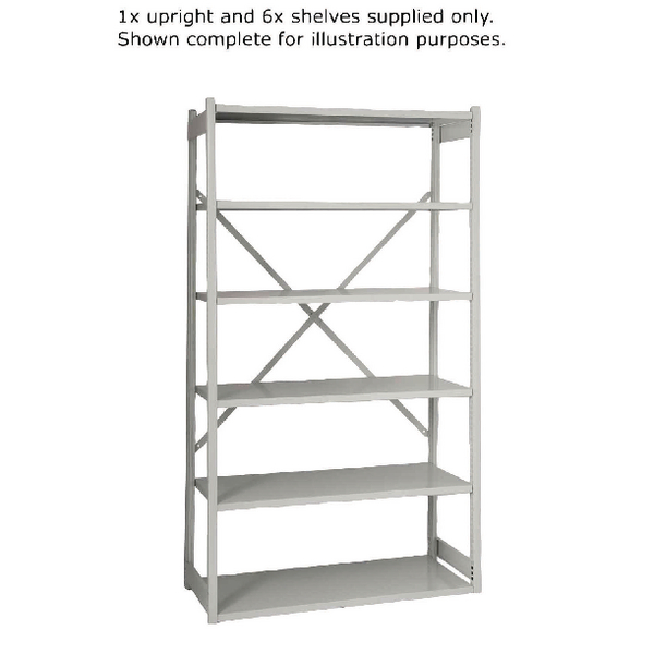 Bisley Shelving W1000xD460mm Grey Extension Kit BY838033