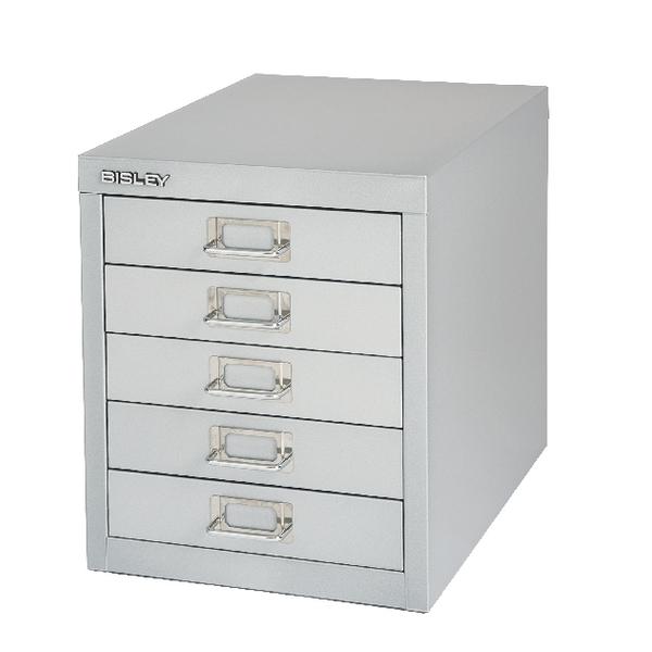 FF Bisley Cabinet 5 Drawer Silver