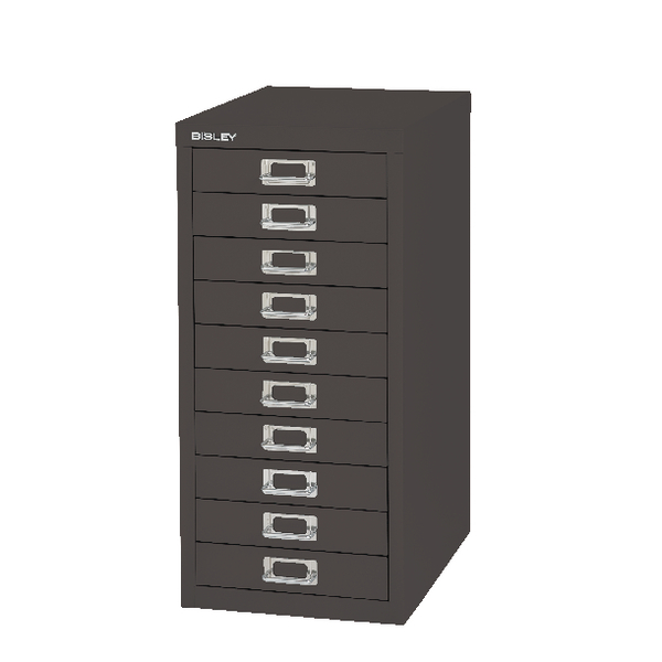 Image for Bisley 10 Drawer Black Non-Locking Multi-Drawer Cabinet