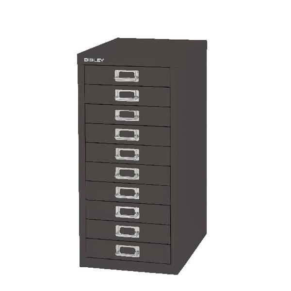 Bisley 10 Drawer Black Non-Locking Multi-Drawer Cabinet BY99639