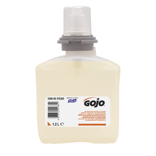 Gojo Anti-bacterial Foam Soap 1.2 Litre TFX Refill (Pack of 2) 5378-02-EEU00