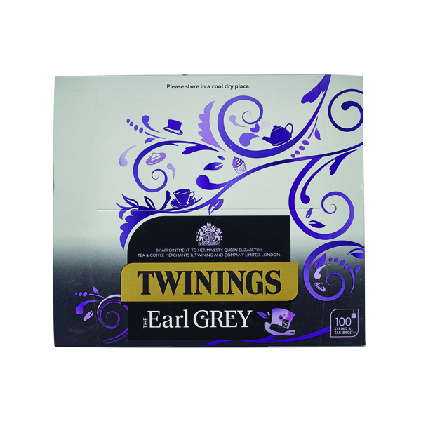 Twinings Earl Grey String and Tag Tea Bags (100 Pack) F09363