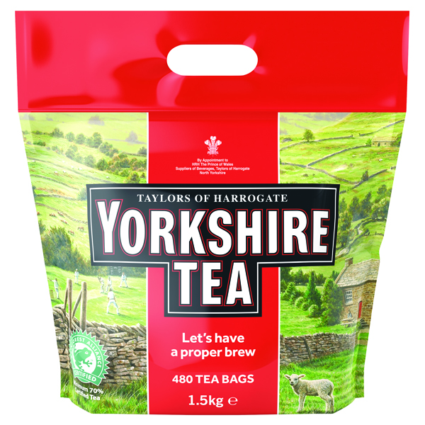 Yorkshire Tea Soft Water Tea Bags (480 Pack) 1127