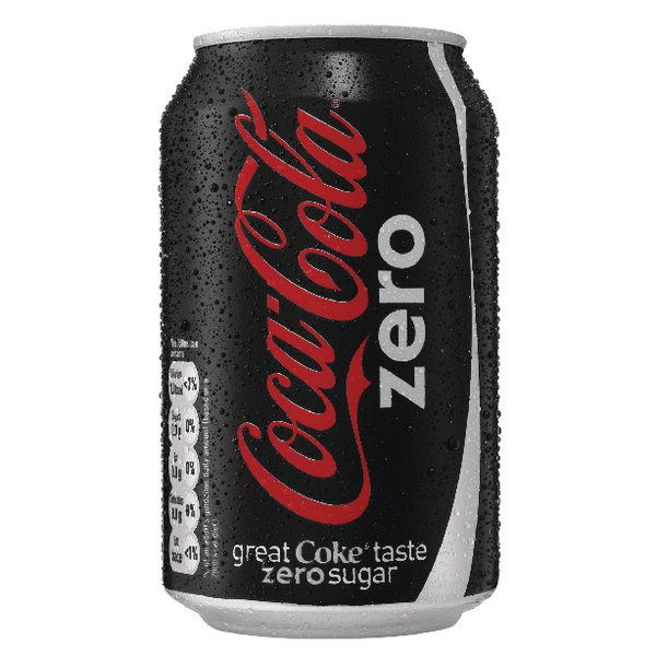 Coke Zero Soft Drink 330ml Can(Pack of 24) 402003