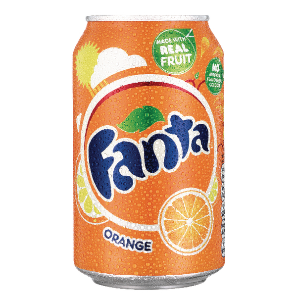 Fanta Orange Soft Drink 330ml Can (24 Pack) A00769
