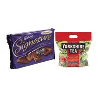 Yorkshire Soft Water Tea Bags (Pack of 960 with Free Cadbury Biscuits)