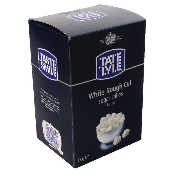 Tate & Lyle Rough Cut White Sugar Cubes 1kg (Pack of 1) A03902