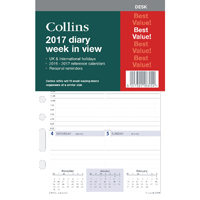 Collins Desk Diary Refill 2017 Week To View (Pack of 1) DK1700