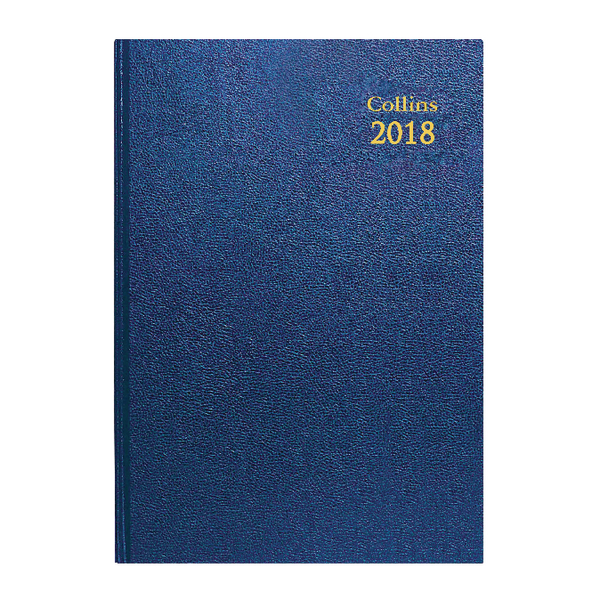 Collins A4 Desk Diary Day/Page 2018 Blue 44