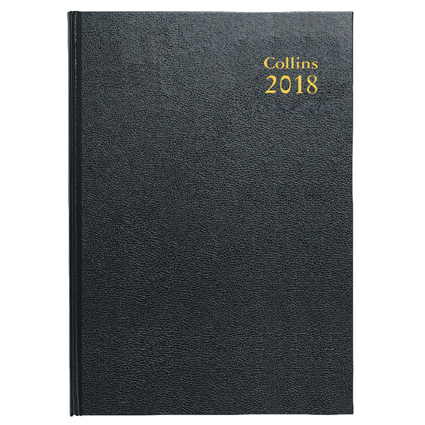 Collins A5 Desk Diary Day/Page 2018 Black 52