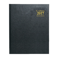 Collins Desk Quarto Week to View 2017 Appointments Diary Assorted (Pack of 1) A36