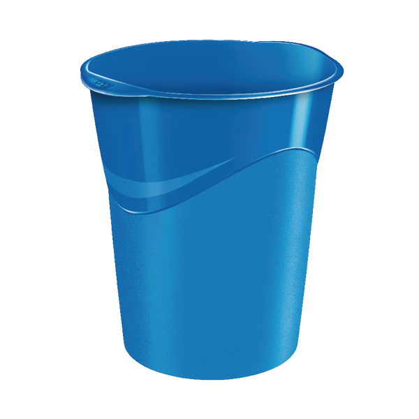 CEP Pro Gloss Blue Waste Bin 280GBLUE