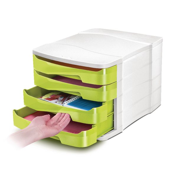 CEP Pro Gloss Green 4 Drawer Set 394BIGGREEN