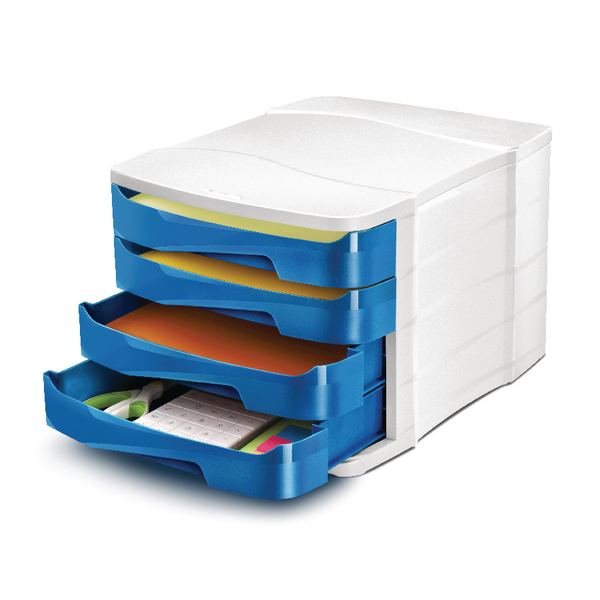 Image for CEP Pro Gloss Blue 4 Drawer Set 394GBLUE