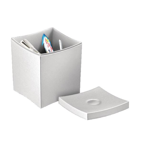 CEP Small Waste Bin W90xD90xH115mm Metal Grey 1200