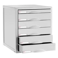 CEP Flexystem Light Grey 6 Drawer Unit (Pack of 1) 8406