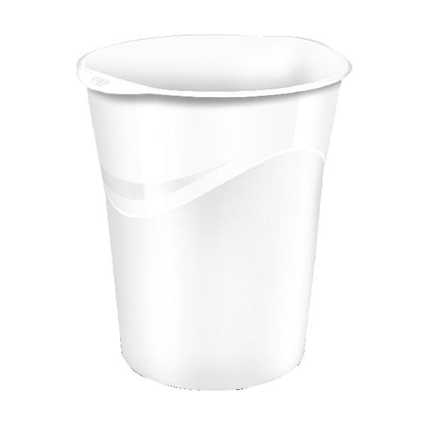 CEP Pro Gloss White Waste Bin 280GWHITE